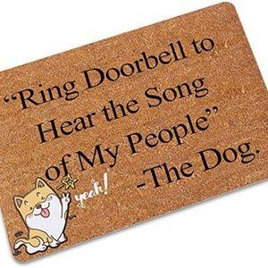 TLJYING Cute The Dog Ring Doorbell Rubber Non-Slip